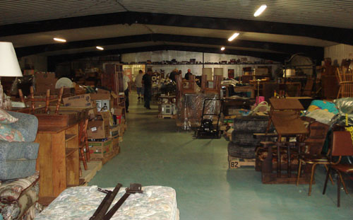 Newkirk Auction Co. warehouse